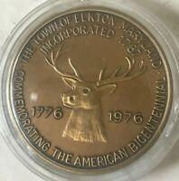 1976 Elkton Maryland Bronze Medal - American Bicentennial