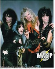 WASP 8x10 Lithograph w Bio Blackie Lawless 1985 Group