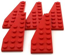 Lego 5 New Red Wedge Plate 8 x 3 Left Pieces