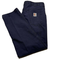 Tyndale FR Men's Size 36x31 Flame Resistant Work Pants Made In Usa Navy Blue
