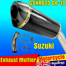 Suzuki GSXR600 GSX-R 600 Carbon Fiber Exhaust Muffler Slip-on Silencer 08 09 10