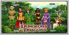 L@@K! Dungeons and Dragons Old School Cartoon 80's Vanity tag plate Room Sign