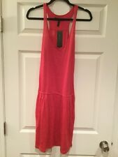 BCBG Max Azria Poppy Pink Cover-up Dress with Pockets, Size Small NWT