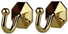 Pack of 2 Curtain Tieback Self Adhesive Gold Plastic Decor Window Hook Tassel