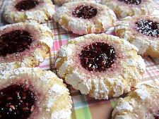 4 Dozen! Homemade Almond Raspberry Crinkle Powdered Sugar Cookies + Gift Box