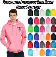 UNEEK Personalised Kids Full Zip Hoodie Custom Embroidered Childrens Sweatshirt