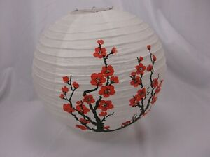 LOT 25 LUAU 15in CHINESE PAPER LANTERNS RED FLOWER TREE WEDDING PARTY EVENT NIP