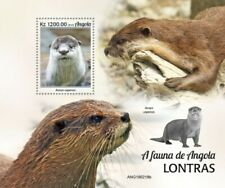 Angola - 2019 Otters on Stamps - Stamp Souvenir Sheet - ANG190218b