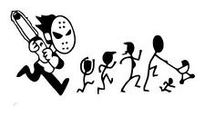 Chainsaw Stick Family -LOGGER TREE TRIMMER  Car Truck Window Vinyl Decal Sticker