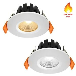 Fire Rated LED Downlight Recessed Ceiling Spotlights Kitchen Lights IP65 6W