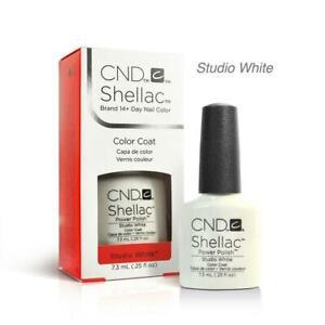CND Shellac American French UV Gel Polish ~ Studio White + Romantique 0.25 oz