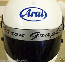 Helmet Vinyl Visor Sticker (Rotax, Cadet, TKM, Gearbox)