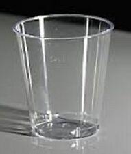 BULK LOT : 120 CLEAR SHOT GLASSES : PLASTIC : BRAND NEW IN PACKET
