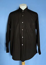 COMME des GARCONS HOMME Black Cotton Button-Front Men's Shirt XL