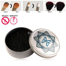 Cleaner Box For Eye Shadow Makeup Brush Remover Dry Clean Sponge Puff fo