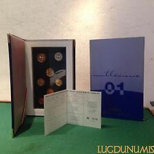 Coffret BE 2001 France 8 pièces 2 Euro à 1 Centime Belle Epreuve
