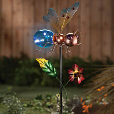 Solar Powered Lighted Buzzing Bee Garden Stake w/ Fluttering Wings