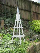 Merveilleux GARDEN TOWER OUTDOOR DECOR OBELISK CLIMBING PLANTS TUTEUR PATIO WHITE  (Short)