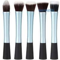 5pc Powder Blush Brush Cosmetic Stipple Fiber Foundation Brushes Makeup Tool Kit