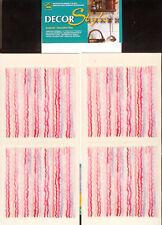 4 STICKERS CARRES POUR CARRELAGE CUISINE SALLE DE BAIN * LIGNES 3D * 7,5 cm