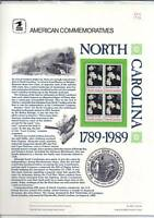 2347 25c North Carolina USPS Commemorative Panel NO 335