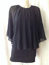 ALIVE GIRL - Black Cotton Dress Sz 6 BNWT BUY Any 5 Items = Free Post