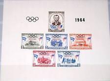 HONDURAS 1964 DM Block D2 Oficial ovp Olympics Tokyo Abraham Lincoln MNH