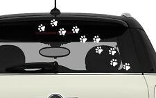 10 X PATTES DE CHAT BLANCHES PET PAW PRINTS AUTOCOLLANT STICKER AUTO (PB477)