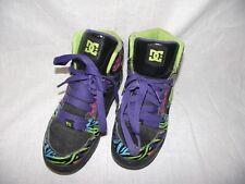 DC Womens 6.5 Rainbow Zebra Print 'Rebound High SE' Sneaker Skate Shoes Leather