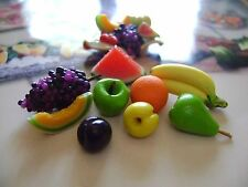 LOT 8 MIX FRUIT miniature maison de poupée, Dolls house 1:12 Puppenstube FOOD