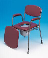 Toilettenstuhl, Nachtstuhl, WC- Stuhl feststehend, höhenverstellbar inkl. Eimer
