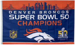 Denver Broncos Super Bowl 50 Champions flag 3x5ft banner US Seller
