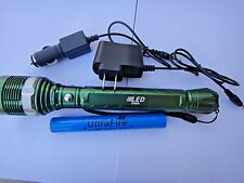 Green 1800 LM XML LED Torch Zoomable flashlight 2X18650+2X charger 69 US Seller