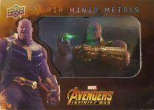 Marvel Avengers Infinity War Strip Mined Metals Card SMM14 THANOS 2018 Upper Dec