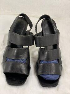 CELINE Heels Sandals SLINGBACK Shoes Size 39 Black