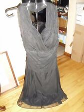Women's Jus d'Orange Black Formal/Cocktail Halter Dress Beautiful S/M NWT