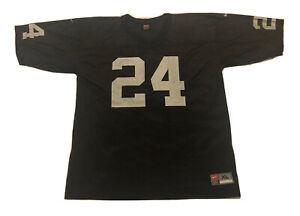 Black N//Q Mens #24/_Woodson Throwback Premier Football Jersey