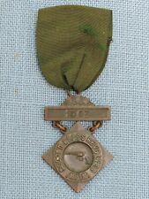 1908 Mass. Volunteer Militia M.V.M. Second Class Revolver Badge Ribbon Medal