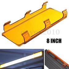 "8"" Inch Snap on Amber Curved LED Work Light Bar Lens Cover ATV UTV Offroad 4WD"