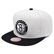 Brooklyn Nets FRESH CROWN Snapback Mitchell & Ness NBA Hat - White/Black