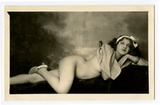 c 1930 French Type Risque NUDE BEAUTY naked lady photo postcard