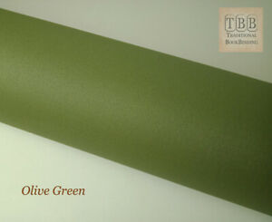 Quality Book cloth- 273 x 250 mm- Durable buckram with paper backing-Olive green