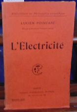 POINCARE L'électricité...