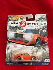 2018 Hot Wheels: Mazda RX-3  Japan Historic 2, Car Culture 2/5 Orange (152)