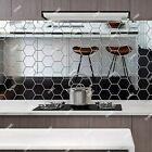 60x 3d Hexagon Mirror Tiles Wall Stickers Self Adhesive Decor Stick On Art Home