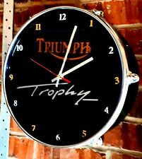 Triumph Trophy motorcycles  - Upcycled Drum Clock ###