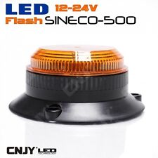 MINI SINECO-500 LED FLASH GYROPHARE ORANGE DE MARQUAGE POUR AUTO CAMION 12V/24V