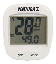 VENTURA X Cycle Computer-Bianco 10 funzioni 2 Display pioggia protetto RRP £ 19