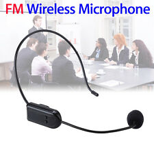 Hands- FM Wireless Microphone Earset Megaphone Stereo Radio Mic Transmit Bv3