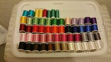 Large Lot Of 56 Spools Of #40 Coats/Sulky Rayon Embroidery Thread $191.44 Value